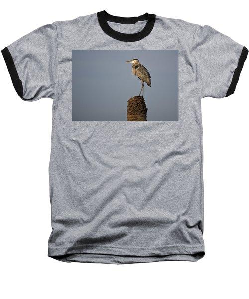 Grey Heron Baseball T-Shirt