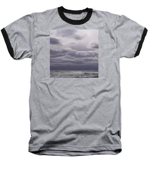 Baseball T-Shirt featuring the photograph Grey Horizon by Adria Trail