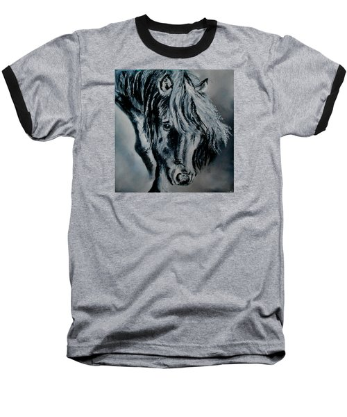 Grey Horse Baseball T-Shirt