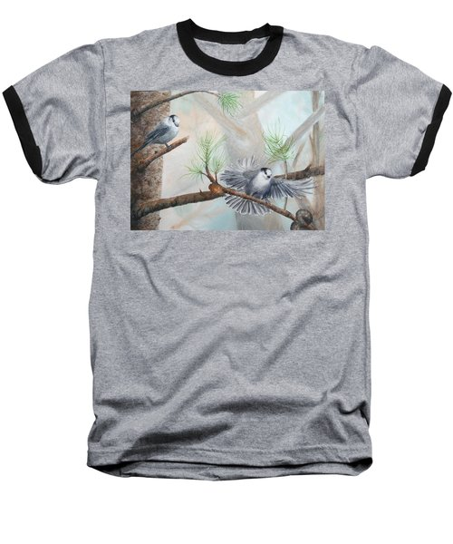 Grey Jays In A Jack Pine Baseball T-Shirt