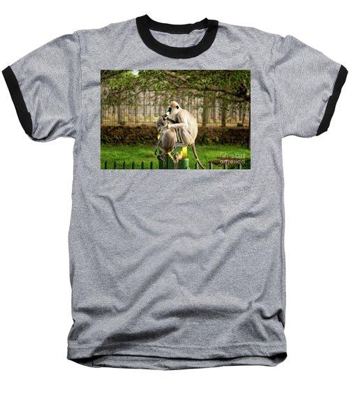 Grey Langur Monkey At Anuradhapura  Baseball T-Shirt