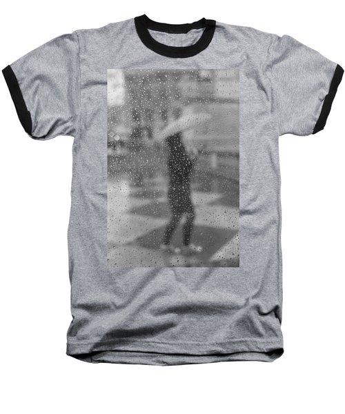 Grey Rain Baseball T-Shirt