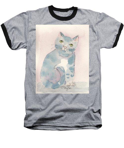 Grey Tabby Baseball T-Shirt by Terry Taylor