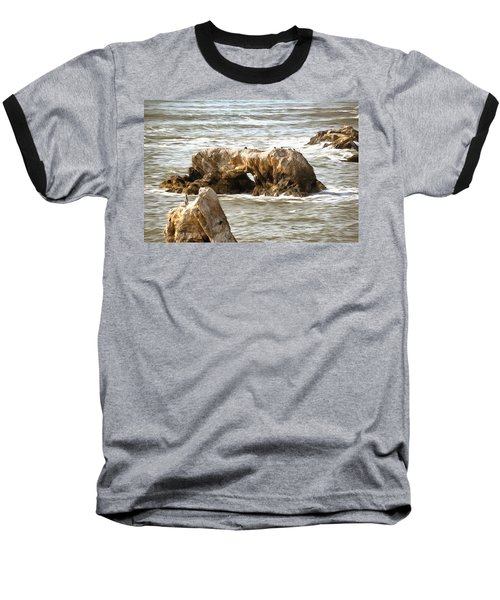 Baseball T-Shirt featuring the photograph Grey Water At Window Rock by Barbara Snyder