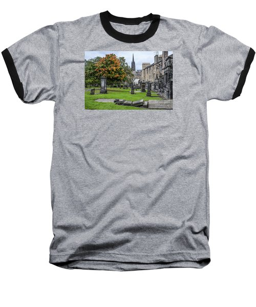 Greyfriars Kirkyard 1562  Baseball T-Shirt by Amy Fearn