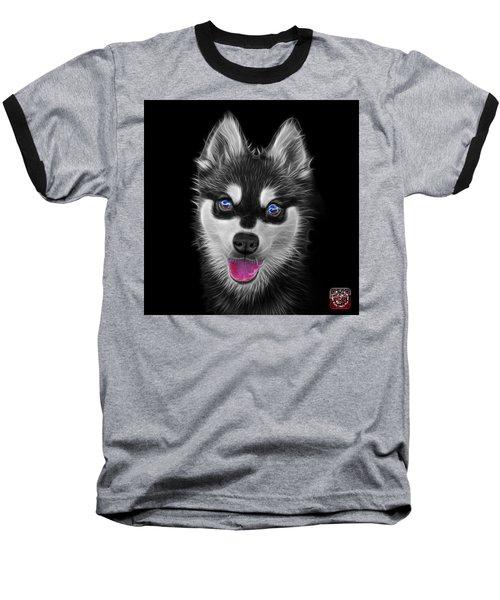 Greyscale Alaskan Klee Kai - 6029 -bb Baseball T-Shirt