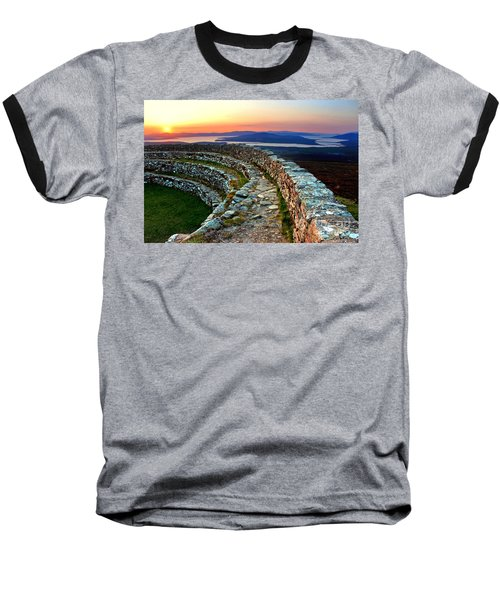 Grianan Fort Sunset Baseball T-Shirt
