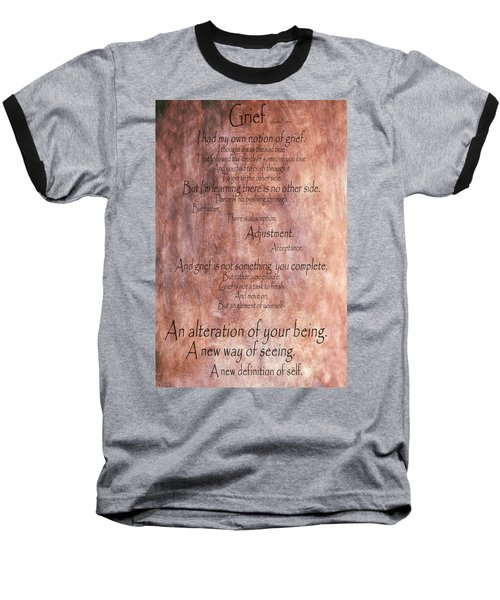 Baseball T-Shirt featuring the mixed media Grief 1 by Angelina Vick