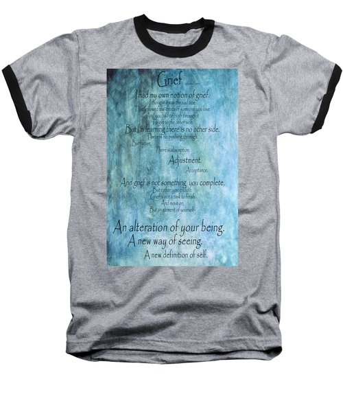 Baseball T-Shirt featuring the mixed media Grief 2 by Angelina Vick