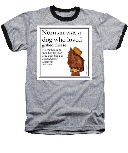 Grilled Cheese Dog Baseball T-Shirt