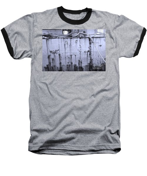 Baseball T-Shirt featuring the photograph Grimy Old Ship Hull by Yali Shi