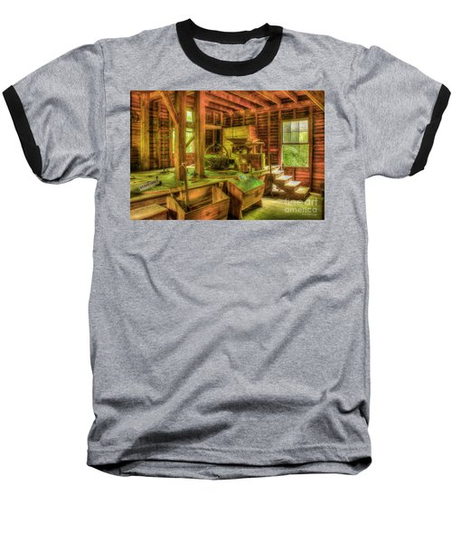 Baseball T-Shirt featuring the photograph Grindingworks Mingus Mill Great Smoky Mountains Art by Reid Callaway