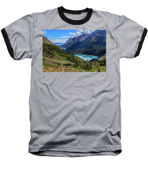 Grinell Hike In Glacier National Park Baseball T-Shirt by Andres Leon