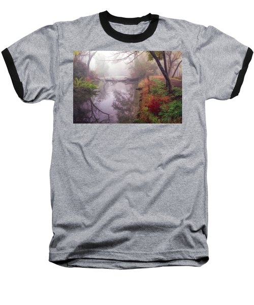Grings Mill Fog 015 Baseball T-Shirt by Scott McAllister