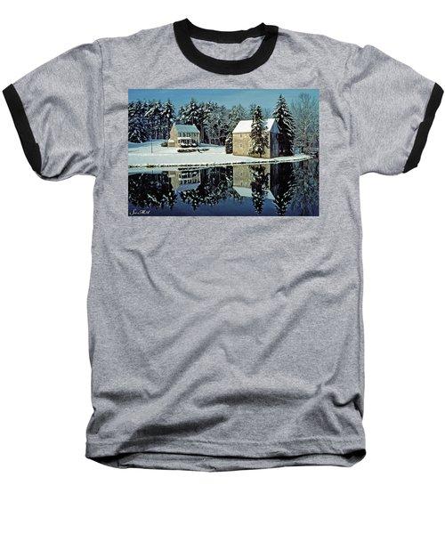 Grings Mill Snow 001 Baseball T-Shirt by Scott McAllister