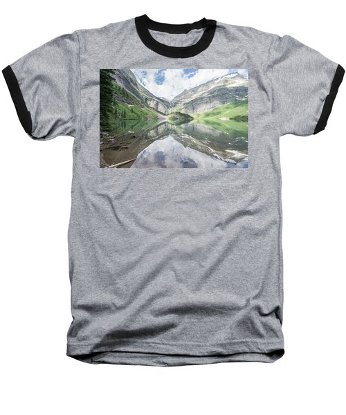 Grinnell Lake Mirrored Baseball T-Shirt