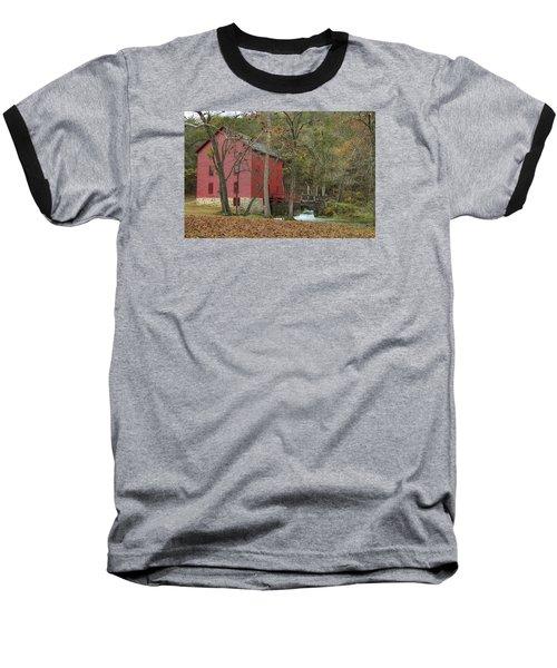 Grist Mill Wwaterfall Baseball T-Shirt