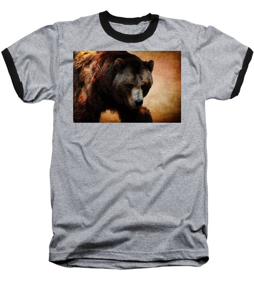 Grizzly Bear Baseball T-Shirt by Judy Vincent