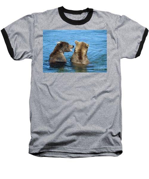 Grizzly Bear Talk Baseball T-Shirt