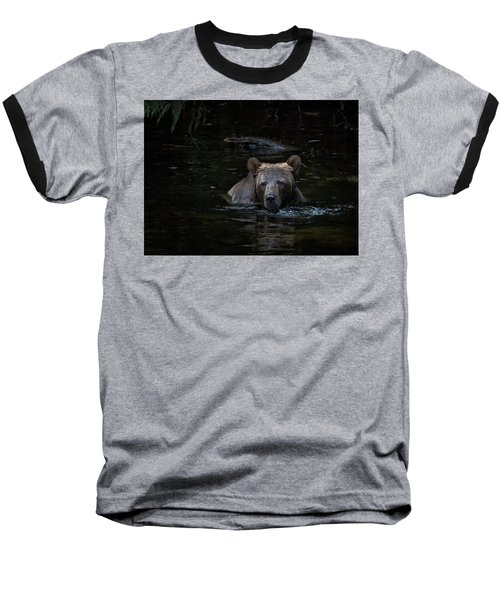 Grizzly Swimmer Baseball T-Shirt