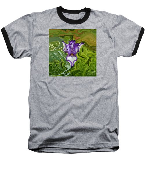 Groovy Purple Iris Baseball T-Shirt