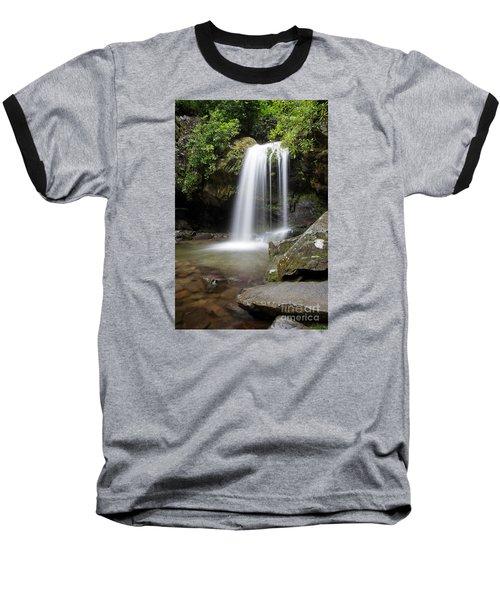 Grotto Falls Vertical Baseball T-Shirt