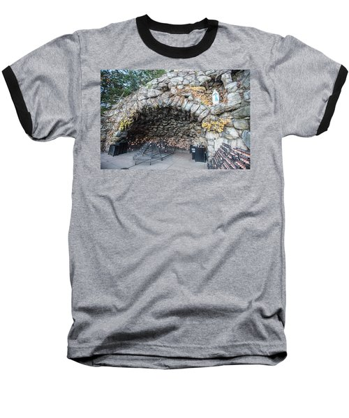 Grotto Of Our Lady Of Lourdes 2 Baseball T-Shirt