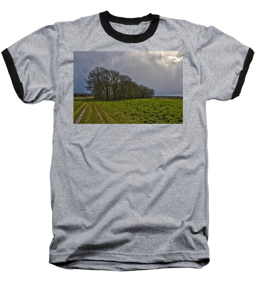 Group Of Trees Against A Dark Sky Baseball T-Shirt