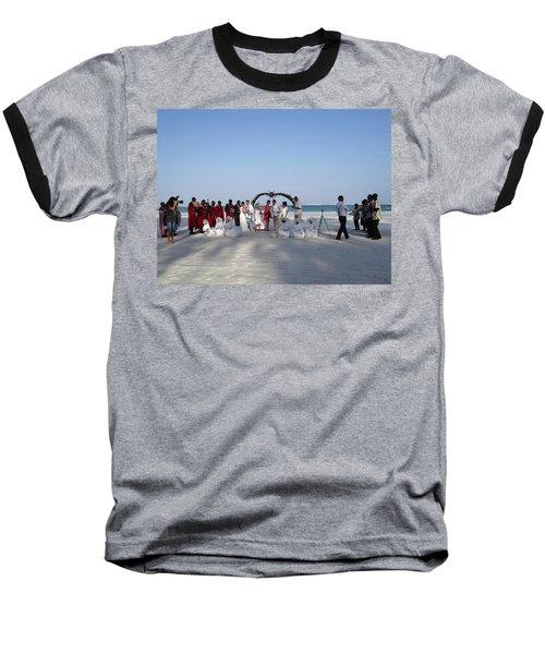 Group Wedding Photo Africa Beach Baseball T-Shirt