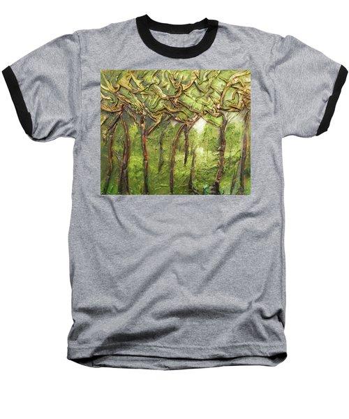 Grove Of Trees Baseball T-Shirt by Angela Stout