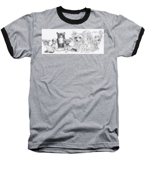 The Chinese Crested And Powderpuff Baseball T-Shirt
