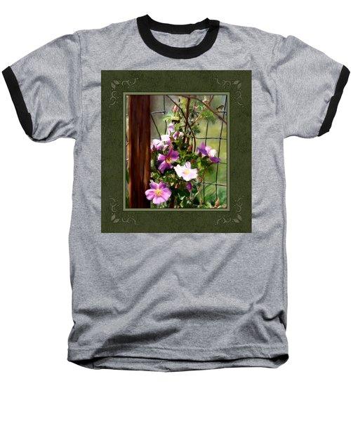 Baseball T-Shirt featuring the digital art Growing Wild by Susan Kinney