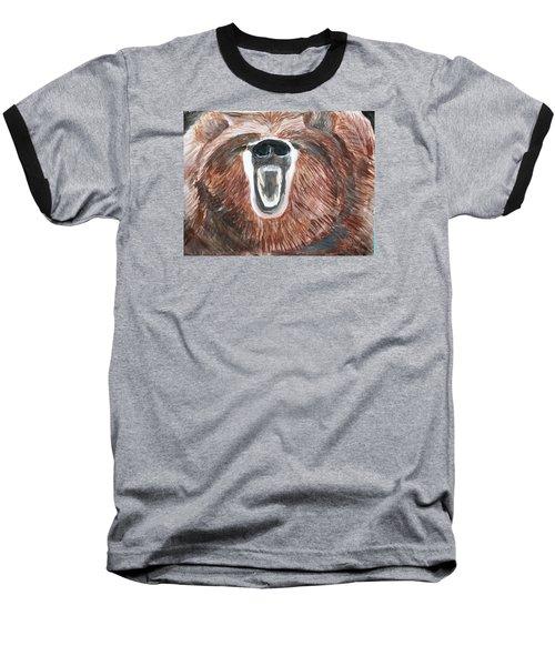 Growling Bear Baseball T-Shirt