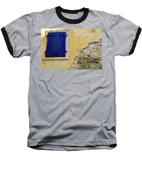 Groznjan Istrian Hill Town Stonework And Blue Shutters  - Istria, Croatia Baseball T-Shirt
