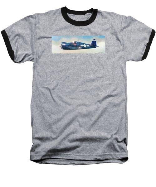 Grumman F6f-5 Hellcat Baseball T-Shirt by Douglas Castleman