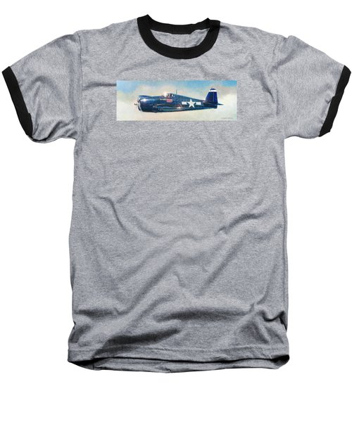 Grumman F6f-5 Hellcat Baseball T-Shirt