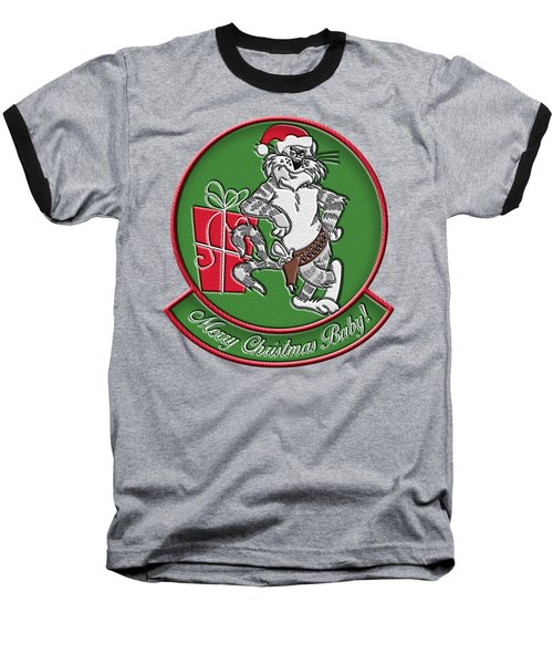 Grumman Merry Christmas Baseball T-Shirt