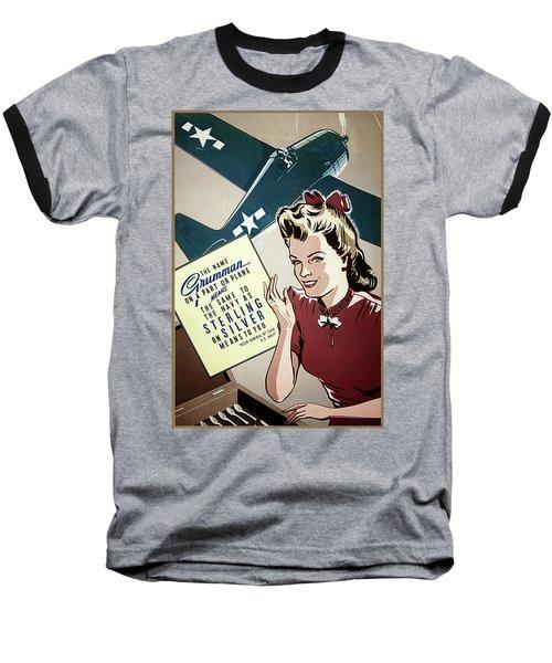 Grumman Sterling Poster Baseball T-Shirt