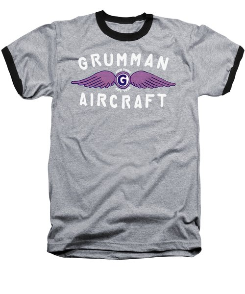 Grumman Wings Violet Baseball T-Shirt