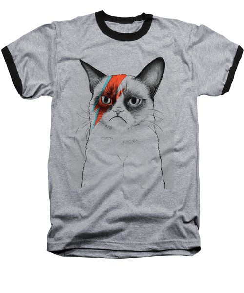 Grumpy Cat As David Bowie Baseball T-Shirt