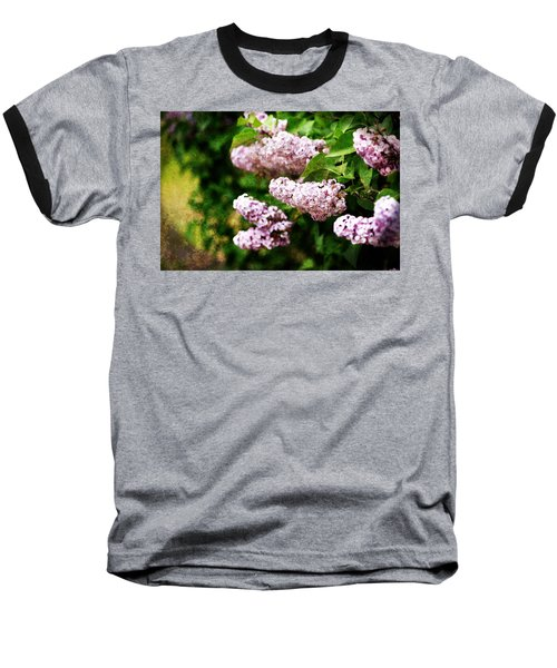 Baseball T-Shirt featuring the photograph Grunge Lilacs by Antonio Romero