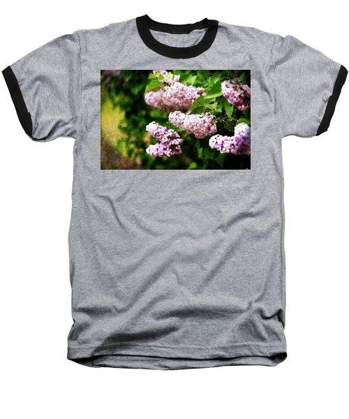Grunge Lilacs Baseball T-Shirt