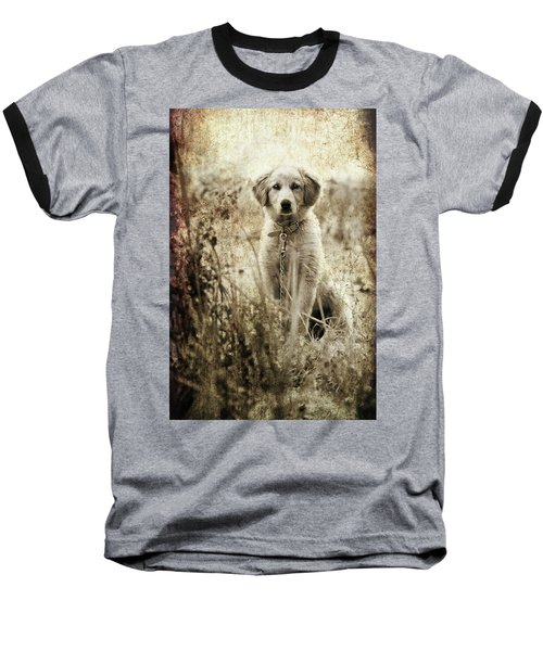 Grunge Puppy Baseball T-Shirt
