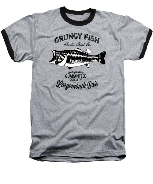 Grungy Fish Baseball T-Shirt