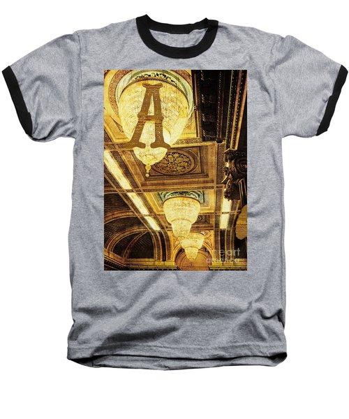 Grungy Melbourne Australia Alphabet Series Letter A Assembly Cha Baseball T-Shirt