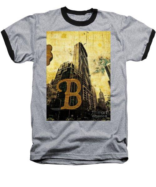 Grungy Melbourne Australia Alphabet Series Letter B Central Busi Baseball T-Shirt