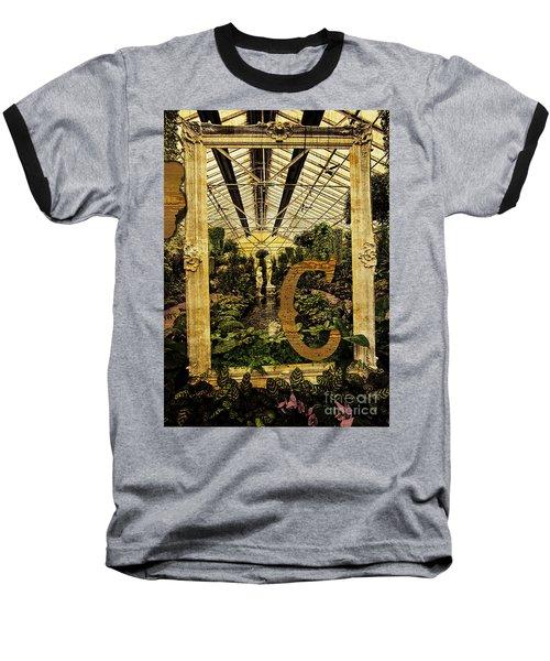 Grungy Melbourne Australia Alphabet Series Letter Baseball T-Shirt