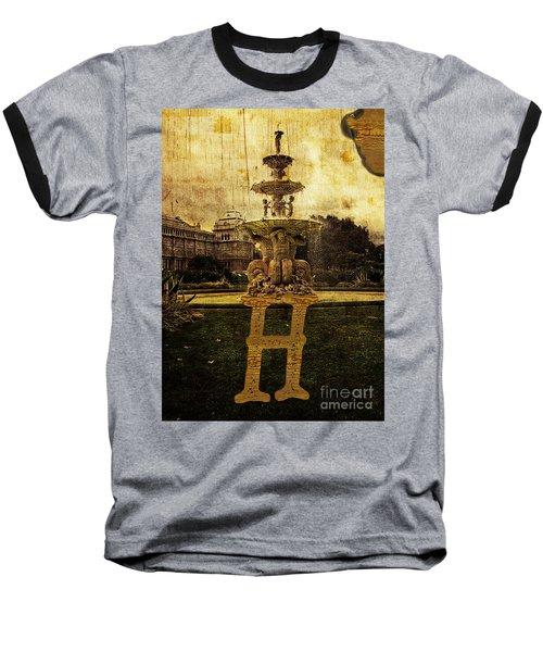 Grungy Melbourne Australia Alphabet Series Letter H Hochgurtel F Baseball T-Shirt