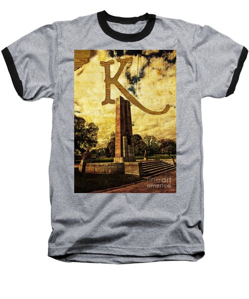 Grungy Melbourne Australia Alphabet Series Letter K Kings Domain Baseball T-Shirt