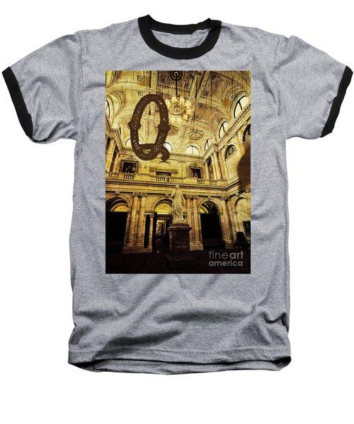 Grungy Melbourne Australia Alphabet Series Letter Q Queen Victor Baseball T-Shirt
